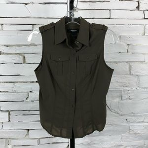 Express Button Down Shirt Sleeveless 1280